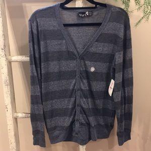 Vurt blue striped cardigan